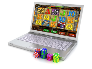 Online Casino on a laptop