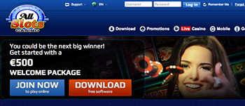 Claim $500 free at All Slots Casino