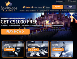 Spin Palace Home Page